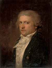 portrait of a gentleman in a blue coat and white ruff (+ 3 others; 4 works) by anglo-dutch school (18)