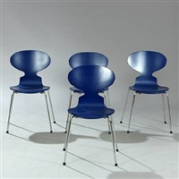 ant chair (model 3101) (set of 4) by arne jacobsen