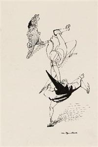 ohne titel (akrobaten) (illustration zu shakespeare der sturm) by josef hegenbarth
