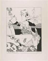 bekleidetes gleichgewicht (+ pandora-a, lithograph; 2 works) by hannes postma