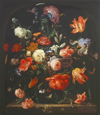 still life of flowers and insects by frederick victor bailey