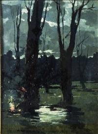 notturno nel bosco - night in the woods by renato natali