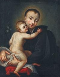 der heilige antonius von padua mit dem jesuskind by f.c. weber