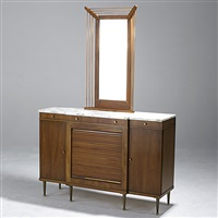 console (+ mirror; 2 pieces) by john widdicomb furniture (co.)