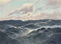 marine im morgendlichen licht by franz waldegg