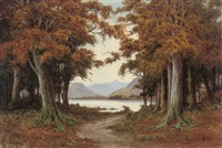 when red leaves are falling: loch katrine in early november by donald a. paton