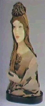 weibliche halbfigur ausgestreckte hand by lotte pritzel