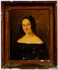 portrait of a lady (baroness micaela almonester de pontalba?) by american school-louisiana (19)