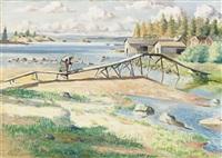 norrländskt landskap by leander engström the elder