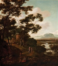 figures in landscape by jan gabrielsz sonje