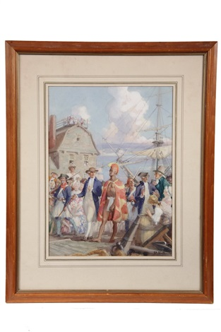 the arrival of king kamehameha ii in england in 1823 by charles hoffbauer