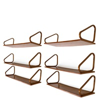 wall shelves (6 works) by alvar aalto
