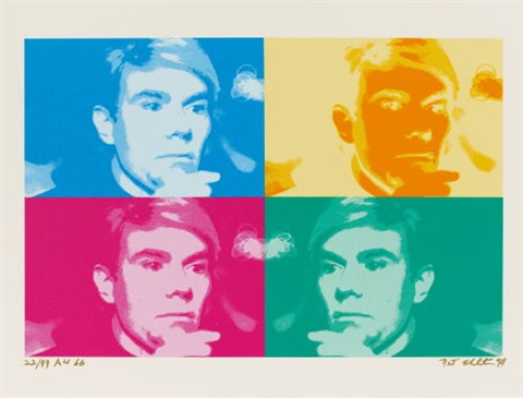 four coloured warhol by nat finkelstein