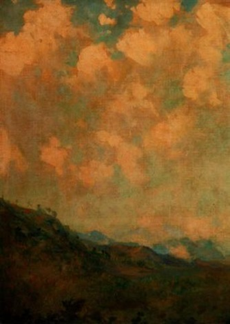 landscape and clouds by augustus vincent tack