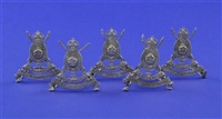 menu holders (set of 5) by william edward hurcomb
