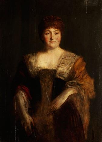 damenportrait by franz seraph von lenbach