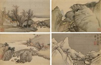 landscapes (album of 12 leaves) by liu du