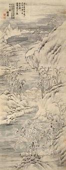溪山雪霁 by jiang jiapu
