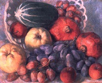 still life with pomegranates by maurice grosser