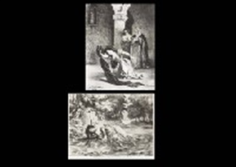 hamlet set of 15 44 others 59 works by eugène delacroix
