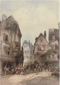 old street, rouen by paul marny