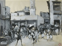 markt in marrakesch by jean langlais