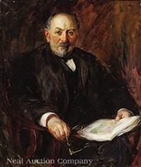 portrait of w.w woolen by wayman adams