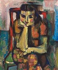 joven sentada by ramon rogent