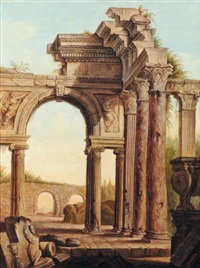 ruines animées by louis gustave cambier