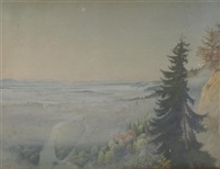 morgennebel an der isar by paul kämmerer