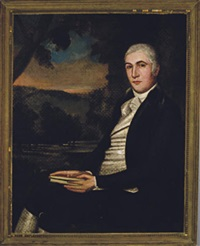 portrait of a gentleman, seated in a landscape by ralph earl