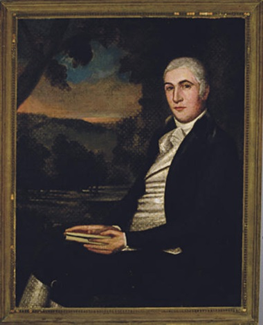portrait of a gentleman seated in a landscape by ralph earl