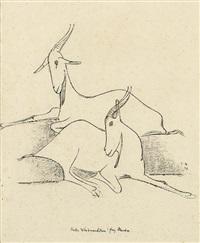 zwei liegende ziegen by emy roeder
