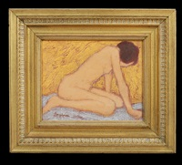 expressionist nude by william anzalone