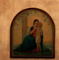 mother and child (arc form) by augustus vincent tack
