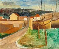 road through a landscape by jean heiberg