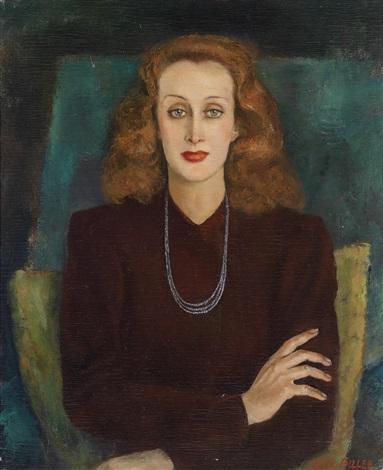 portrait der schauspielerin edith marie meinel by erich miller von hauenfels