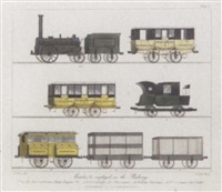 views on the liverpool and manchester railway by thomas talbot bury