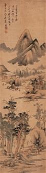 仿董山水 (landscape in master dong誗 style) by luo yang