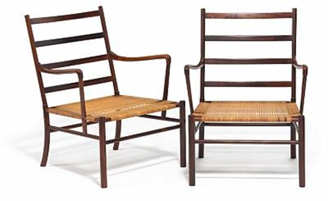 Colonial Chairs (pair) (model Pj 149) By Ole Wanscher