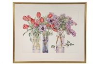 tulips, poppies, lilacs by jo spiller