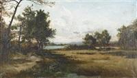 sommerliche heidelandschaft by vincent-leopold thenot