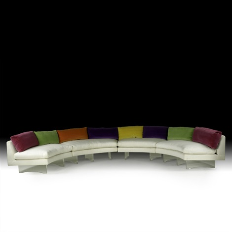 omnibus sectional sofa in 4 parts by vladimir kagan