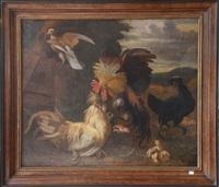 combat de coqs by melchior de hondecoeter