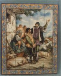 el caballero le hizo tantas promesas justas que al fin el pobre tonto. . . by julian santacruz
