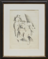 zwei weibliche akte by alexander archipenko