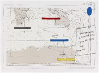islands in the storm (4 works) by lawrence weiner