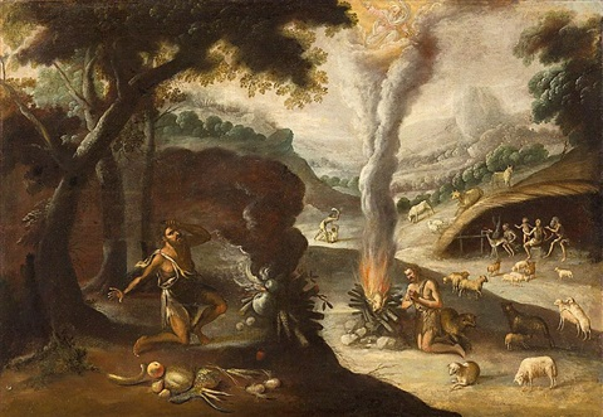 el sacrificio de caín y abel by willem van herp the elder