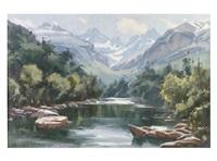 paisaje fluvial de montaña by antonio iglesias sanz