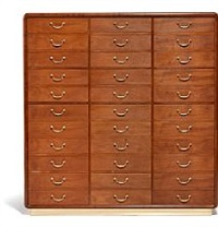 unique cuban mahogany chest of drawers by arne jacobsen